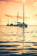 Recreational Yacht at the Indian Ocean - stock photo