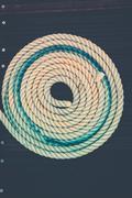 Nautical mooring rope - stock photo