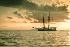 Stock Photo of Recreational Yacht at the Indian Ocean