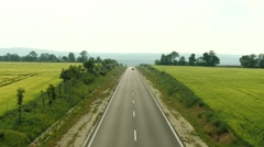 4K Two Lane Highway in Summer 1 Stock Footage