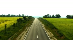 4K Two Lane Highway in Summer 2 stylized Stock Footage