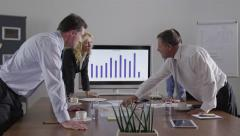 Business meeting - lively conversation - 4K Stock Footage