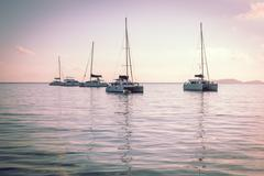 Recreational Yachts at the Indian Ocean - stock photo