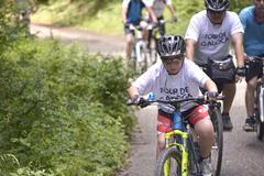 """NATIONAL PARK GALICICA,MACEDONIA -JUNE 21, 2015:Bicycle Tour """"Tour de Ga - stock photo"""