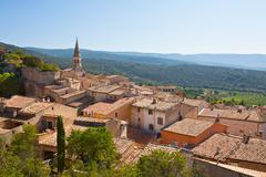 View of Saint Saturnin d Apt, Provence, France Stock Photos