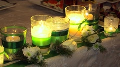 Festive Decoration In Green Color Stock Footage