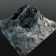 Mountain Peak Low Poly 3D Model - 3D model
