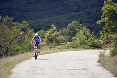 "Stock Photo of NATIONAL PARK GALICICA,MACEDONIA -JUNE 21, 2015:Bicycle Tour ""Tour de Ga"