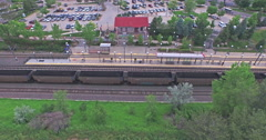 Aerial view of typical resedential area Stock Footage