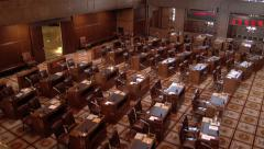Empty USA Senate Meeting Room Stock Footage