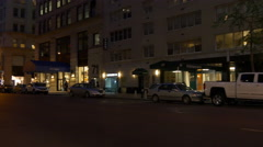 Night light new york city chelsea block street panorama 4k usa Stock Footage