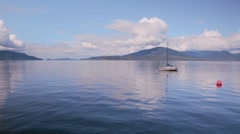 Quite mooring in a bay near Vancouver Stock Footage