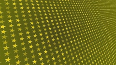 Animated yellow background.  rotate stars arranged in series Stock Footage