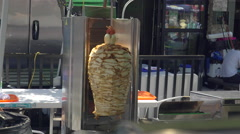 Gyros being cooked. Stock Footage