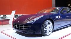 Ferrari FF Gran Turismo sports car Stock Footage