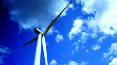 Concept Of Using Natural Resources Intelligently.Wind Turbines Time Lapse - stock footage