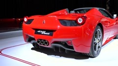 Ferrari 458 Spider sports car Stock Footage