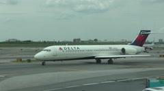 Delta airlines passenger jet - stock footage
