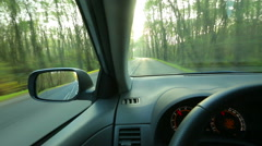 Driving a car - stock footage