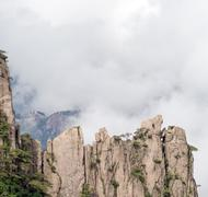 Huangshan mountain cloudscape - stock photo
