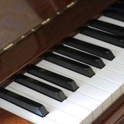 Detail of piano keyboard Stock Photos