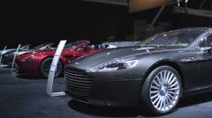 Aston Martin Rapide sports saloon car Stock Footage
