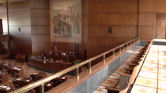 Senate Gallery Empty Room - stock footage