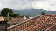 Antigua Guatemala 07 - Mountain View from Rooftop Timelapse Stock Footage