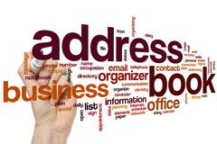 Address book word cloud - stock photo