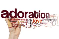 Adoration word cloud - stock photo
