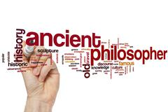 Ancient philosopher word cloud - stock photo