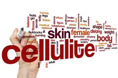Cellulite word cloud - stock photo