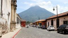 Antigua Guatemala 01 - Street Scene Stock Footage