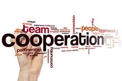 Cooperation word cloud - stock photo