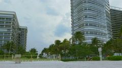 Miami beach entrance rainy sky view 4k florida usa Arkistovideo