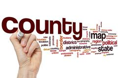 County word cloud Stock Photos
