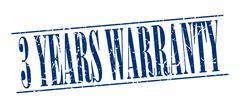 Stock Illustration of 3 years warranty blue grunge vintage stamp isolated on white background