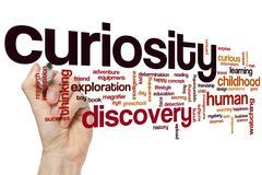 Curiosity word cloud Stock Photos