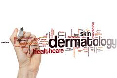 Dermatology word cloud - stock photo