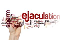 Ejaculation word cloud - stock photo