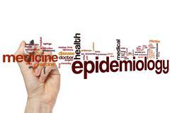 Epidemiology word cloud - stock photo
