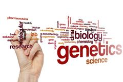 Genetics word cloud Stock Photos