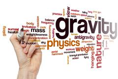 Gravity word cloud - stock photo