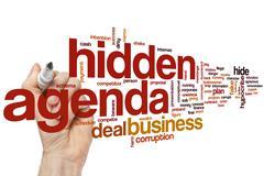Hidden agenda word cloud Stock Photos