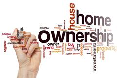 Home ownership word cloud - stock photo