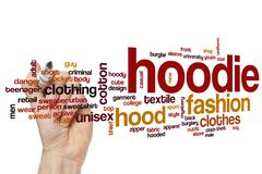 Hoodie word cloud Stock Photos