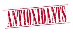 Stock Illustration of antioxidants red grunge vintage stamp isolated on white background