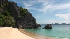 Beautiful beach on Black Island in Coron Philippines - stock footage