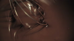 Stock Video Footage of Whisk Hot Melted Chocolate