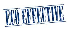 eco effective blue grunge vintage stamp isolated on white background - stock illustration